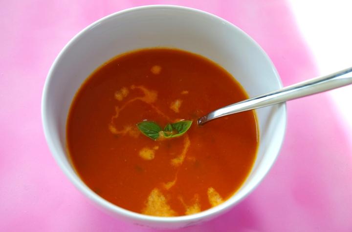 Basilicum tomaten soep