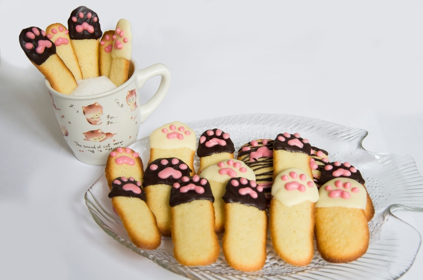 cat tongues cookies